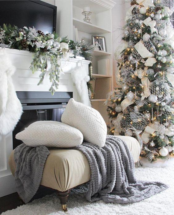 Wordpress Com In 2020 White Christmas Decor Christmas Living Rooms Christmas Decor Diy
