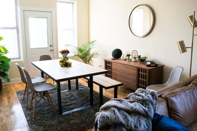 Our Apartment | Reclaimed wood dining table, Urban apartment and ...