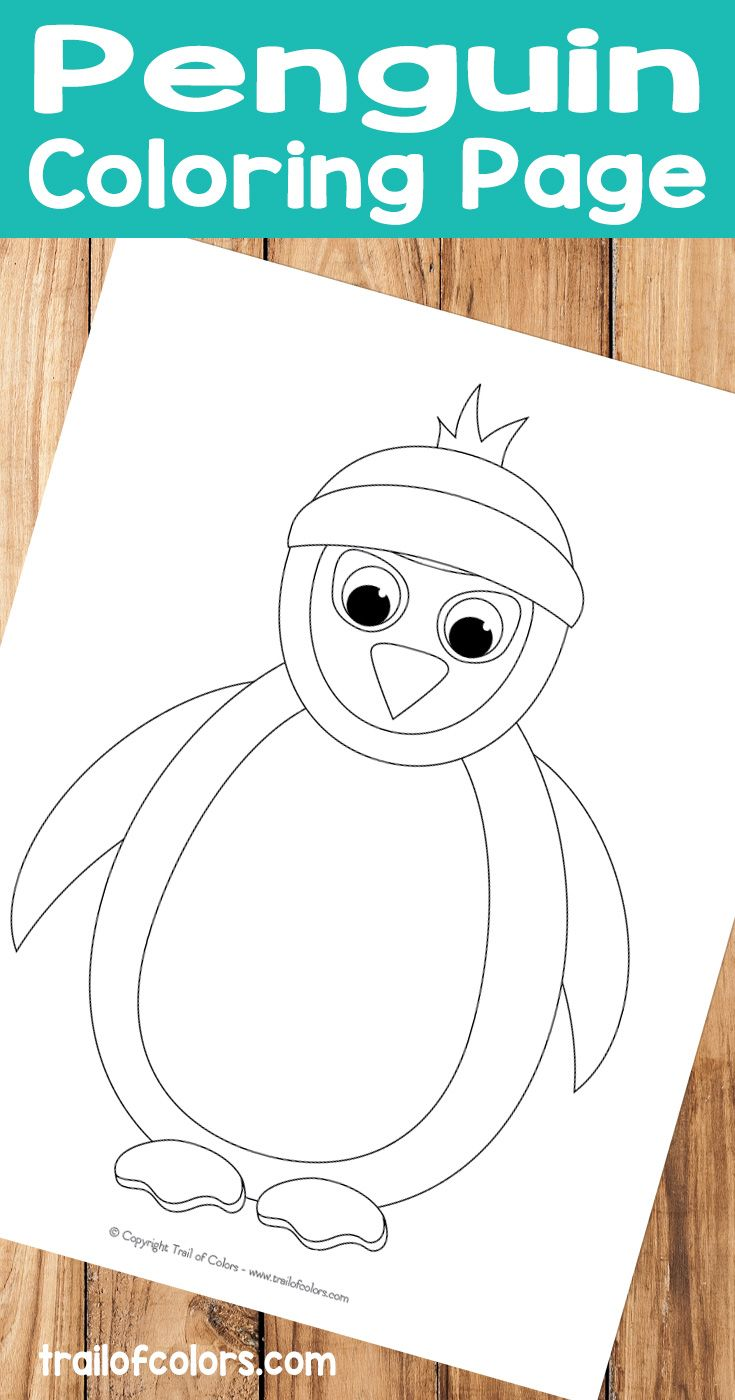 Penguin Coloring Page - Winter Coloring Pages for Kids | Coloring ...