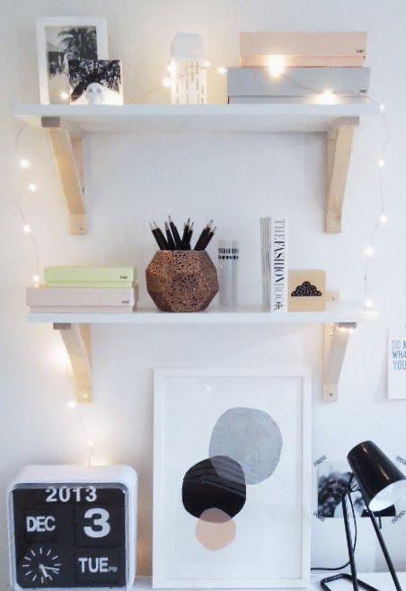Fairy Lights Around My Office Shelves T H E D E S I G N
