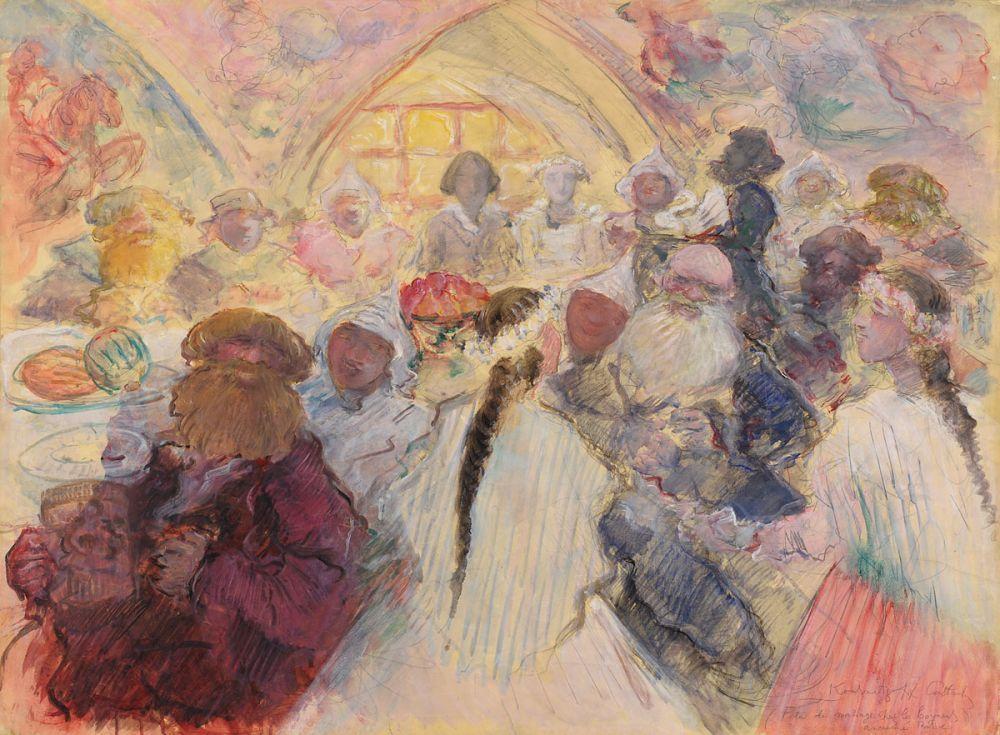 Kousnetsoff, Constantin 1863 Nizhny Nowgorod - 1936 Paris Fête de mariage chez les boyard…Russe
