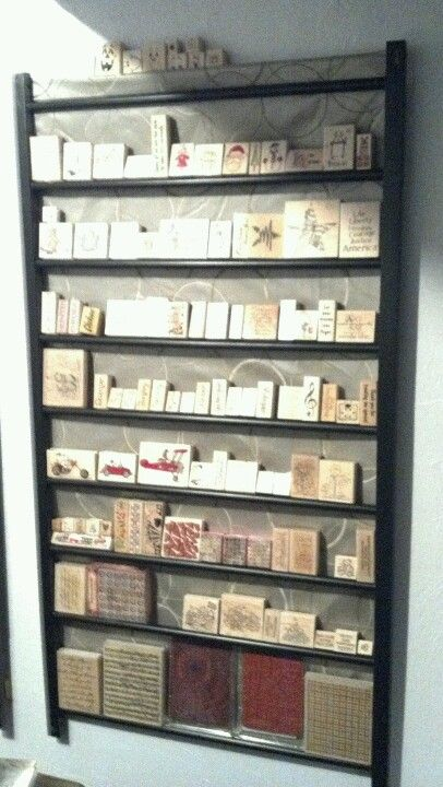Upcycle A Crib Side To Organize Wood Mounted Rubber Stamps