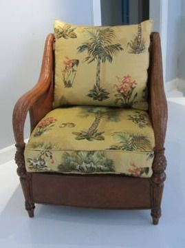 Ethan Allen Wicker Chair Ours Has A