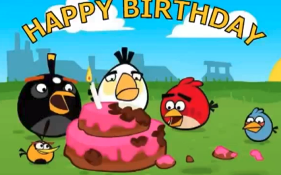 Angry Birds Birthday Video With Images Birthday Card Gif