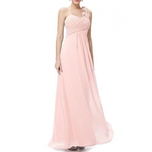 Vestido Largo Fiesta Tirante Flor Rosa | Suen-Vestidos de fiesta