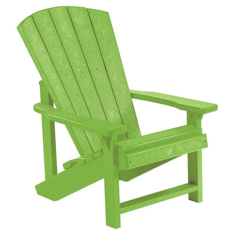 Outdoor CR Plastic Generations Kids Adirondack Chair Kiwi Green   C08 17
