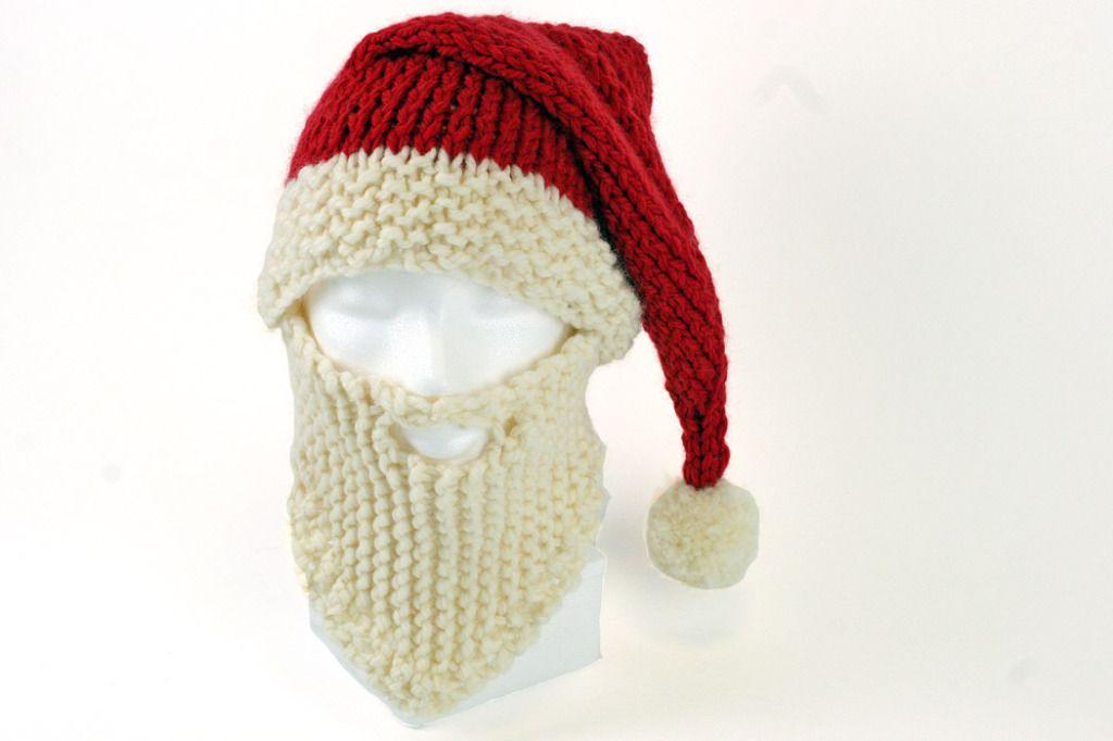 Santa Hat and Beard Knitting Pattern | Knit | Pinterest | Knitting ...