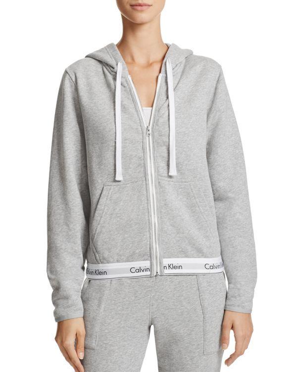 Calvin Klein Modern Cotton Full Zip Hoodie Full Zip Hoodie Full Zipper Hoodie Hoodies Womens