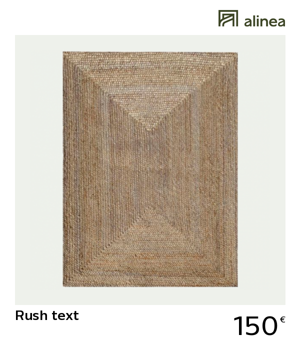Alinea Rush Text Tapis Tresse En Jute 200x290cm Decoration Maison Et Objets Decoration Grands Tapis Alinea Decoration Tap Tapis Tresse Tapis Tapis Salon