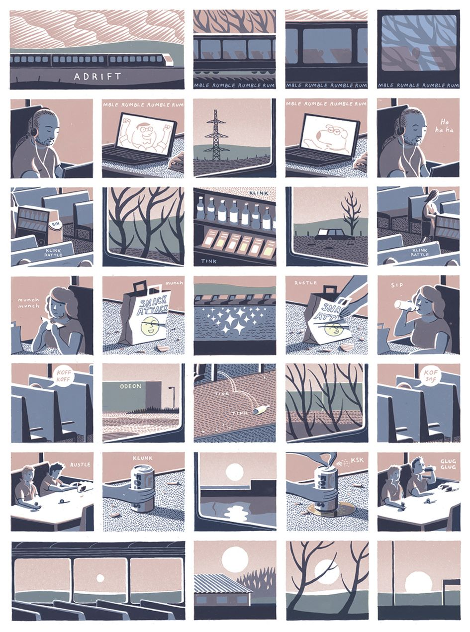 Double Page Spread For Jon McnaughtS Illustrated Graphic