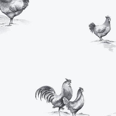 """Found it at Wayfair - Kitchen Elements 32.7' x 20.5"""" Delft Chicken Wallpaper"""