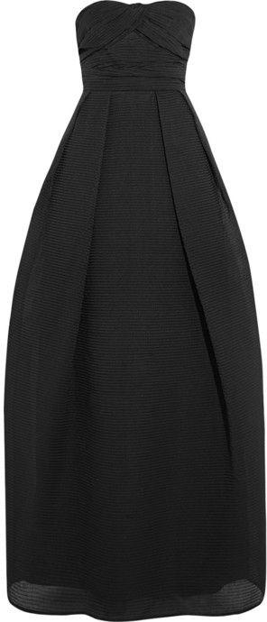 Carven Cotton-blend textured-organza gown