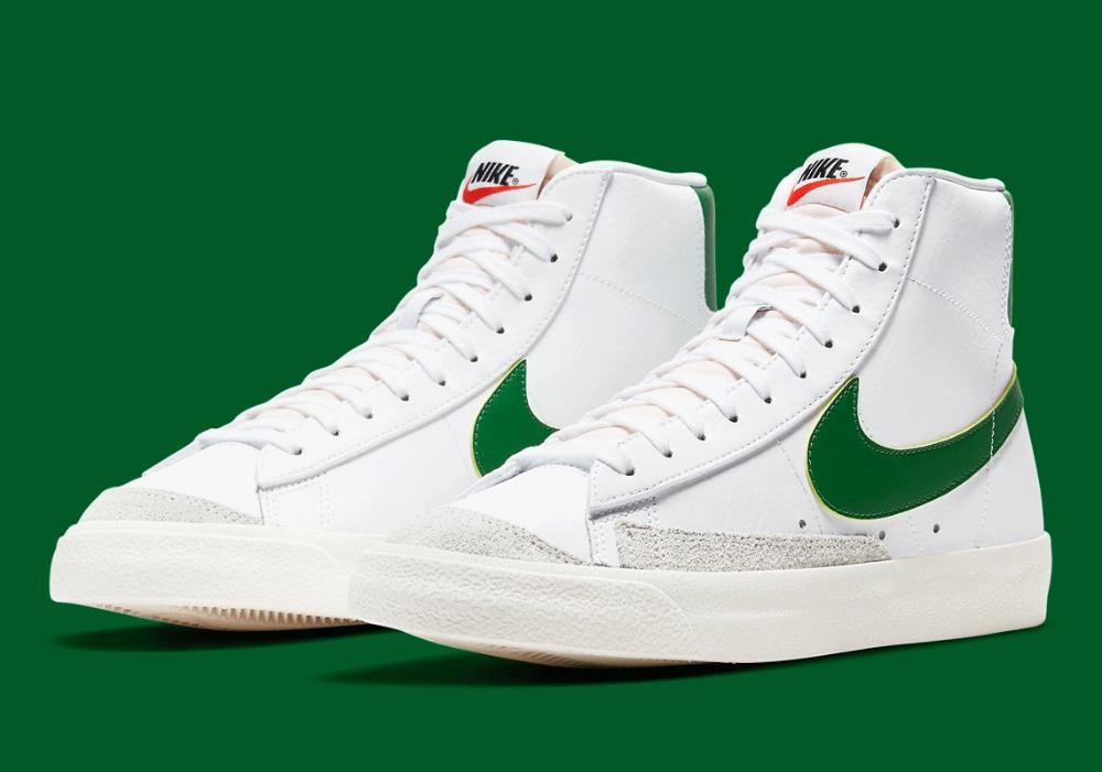 Nike Blazer Mid '77 White Pine Green BQ6806-115 | SneakerNews.com ...