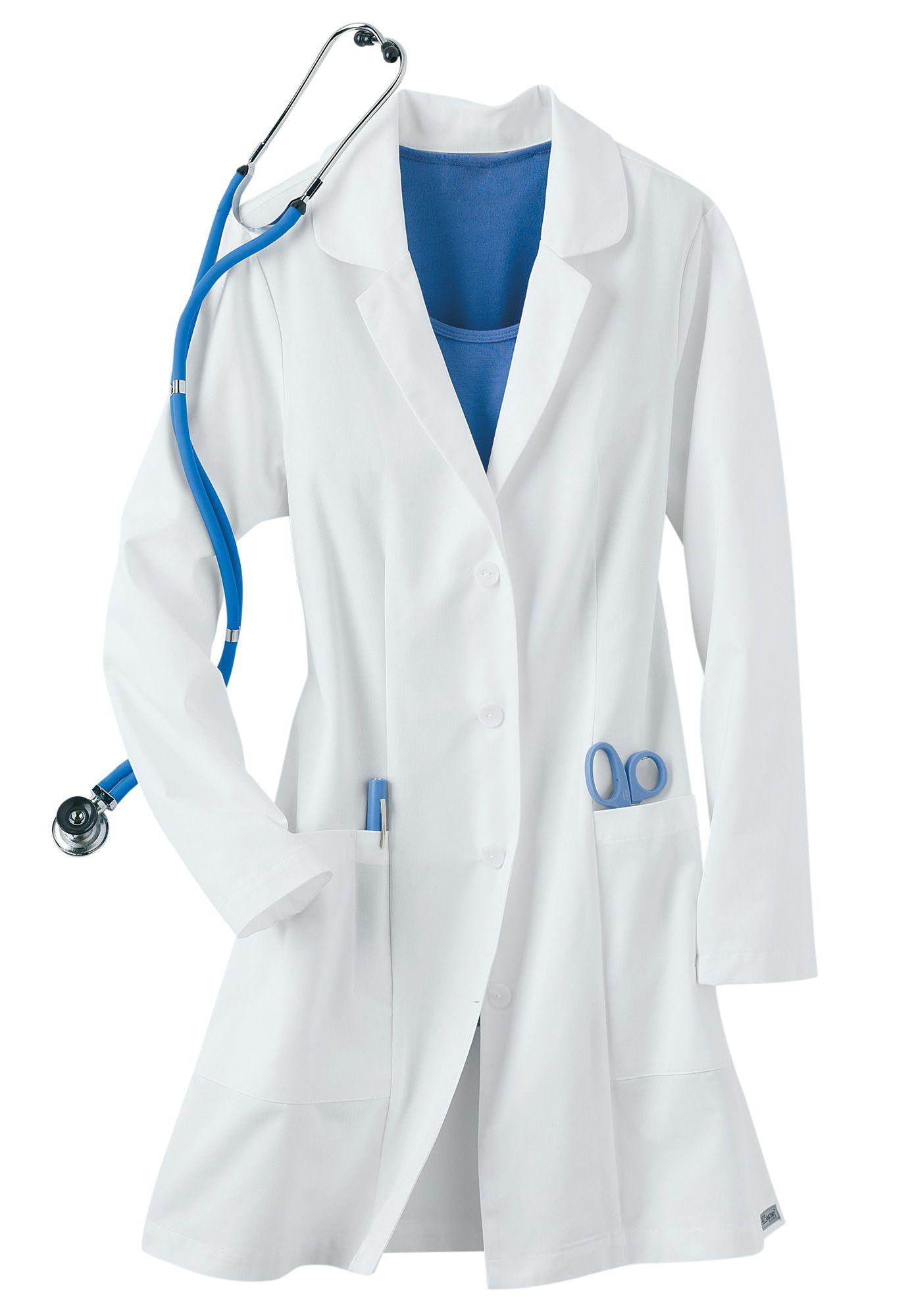 Greys Anatomy Signature Soft Stretch Lab Coat w tablet pocket