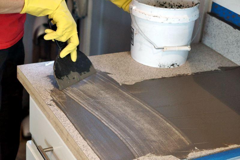 Diy concrete countertops over laminate surfaces