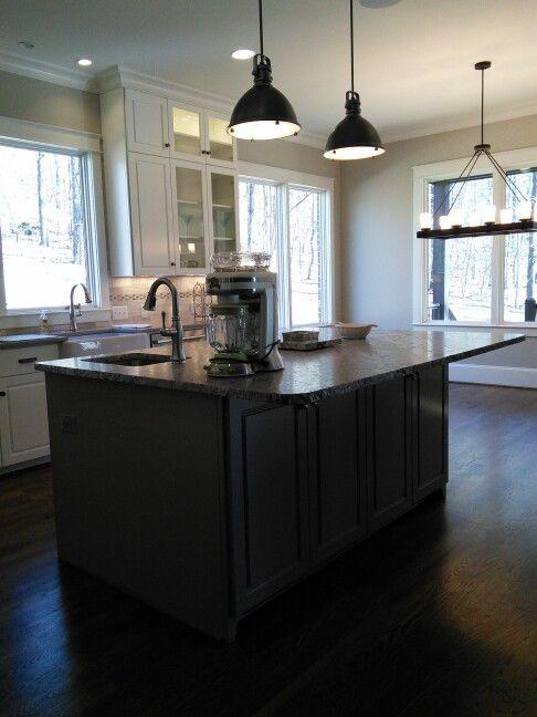 white kitchen shiitake quartz counter tops gray island with leathered linen granite kitchen on kitchen island ideas white quartz id=34597