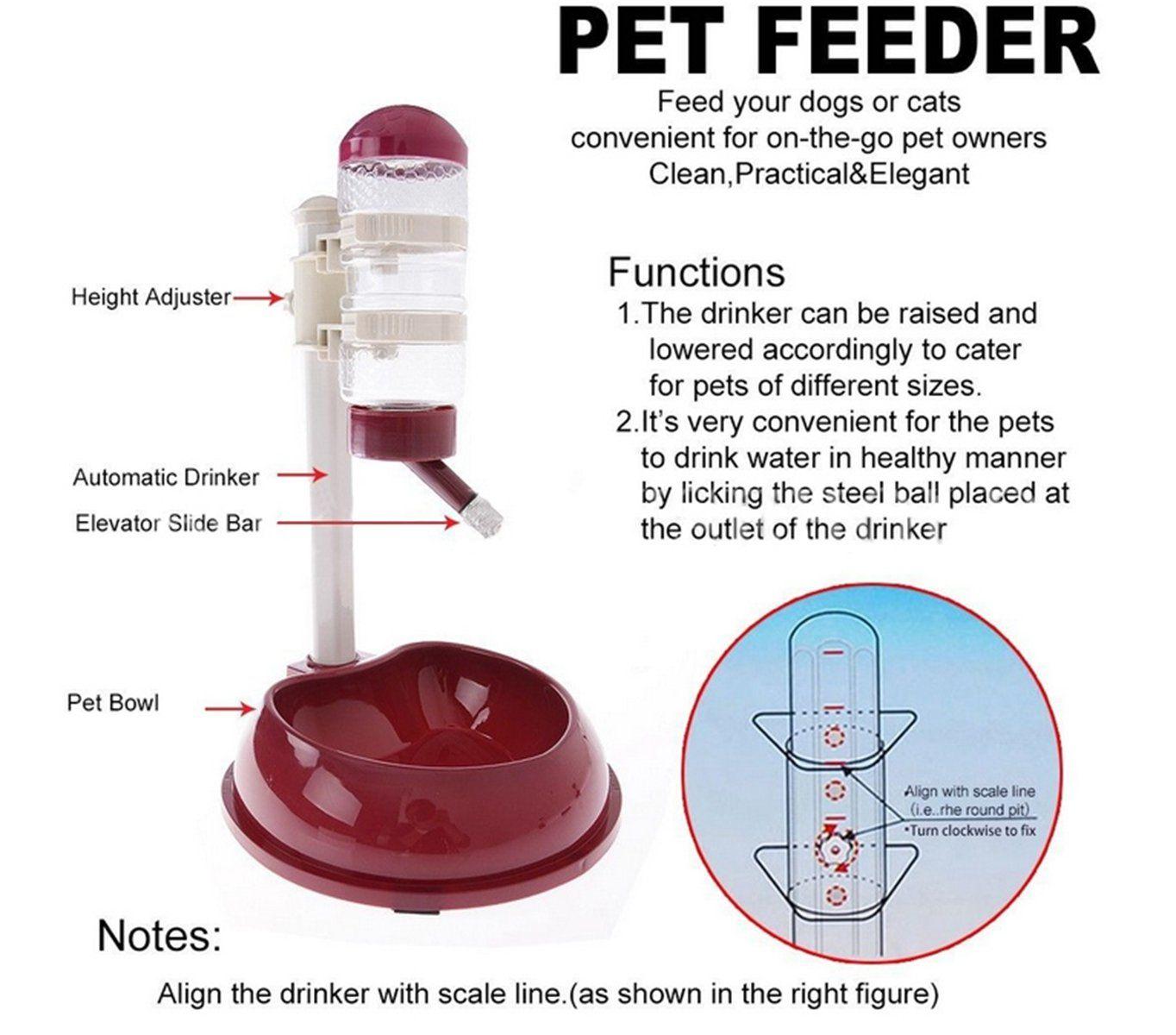 Lexpon pet drinking fountain plastic dog cat dish bowl