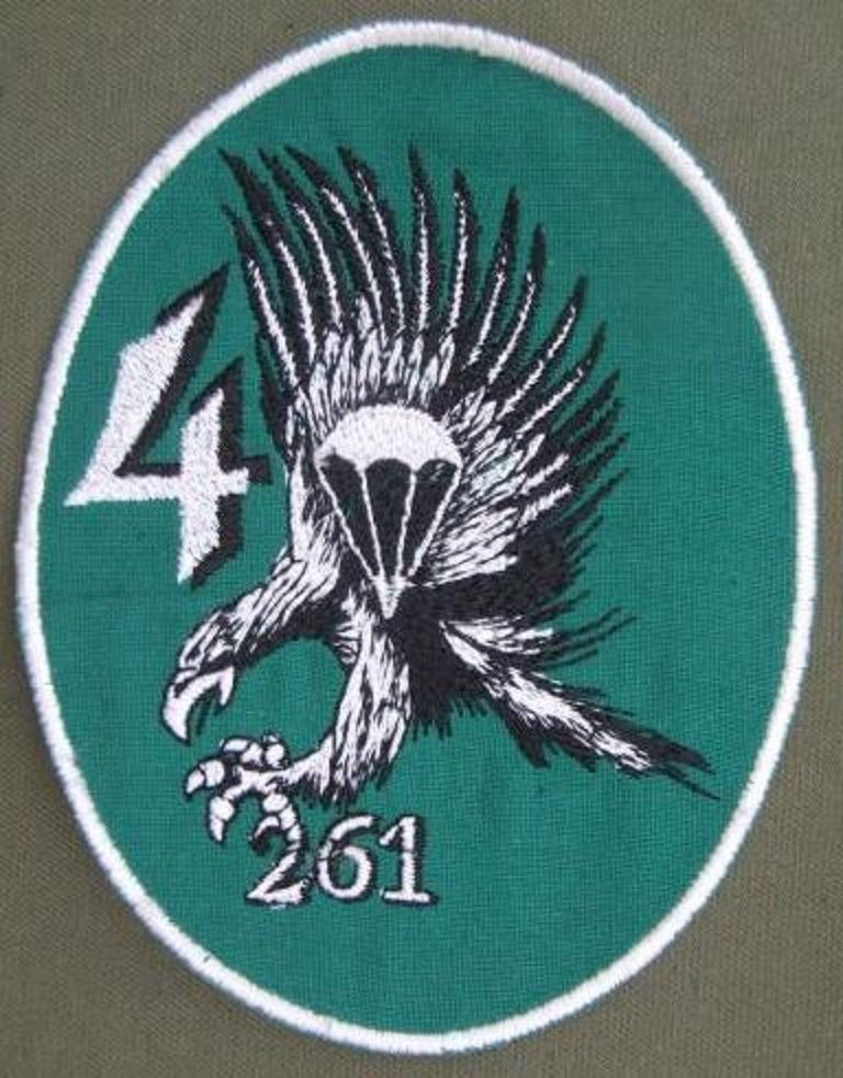 Germany 4th Company 261st Airborne Battalion Patch The Patch Is In Near Mint Condition Abzeichen Bundeswehr Fallschirmjager