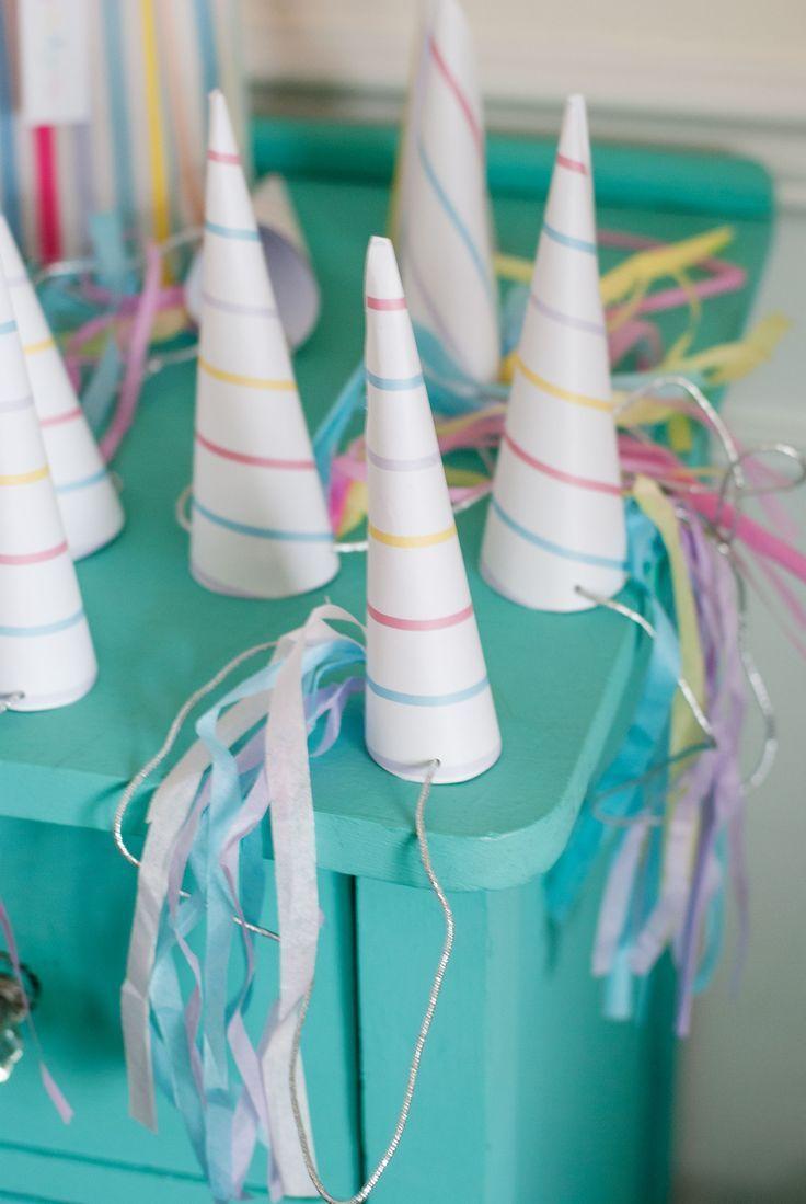 Clip on Birthday Party Fancy Dress Unicorn Spraly Horn Hats