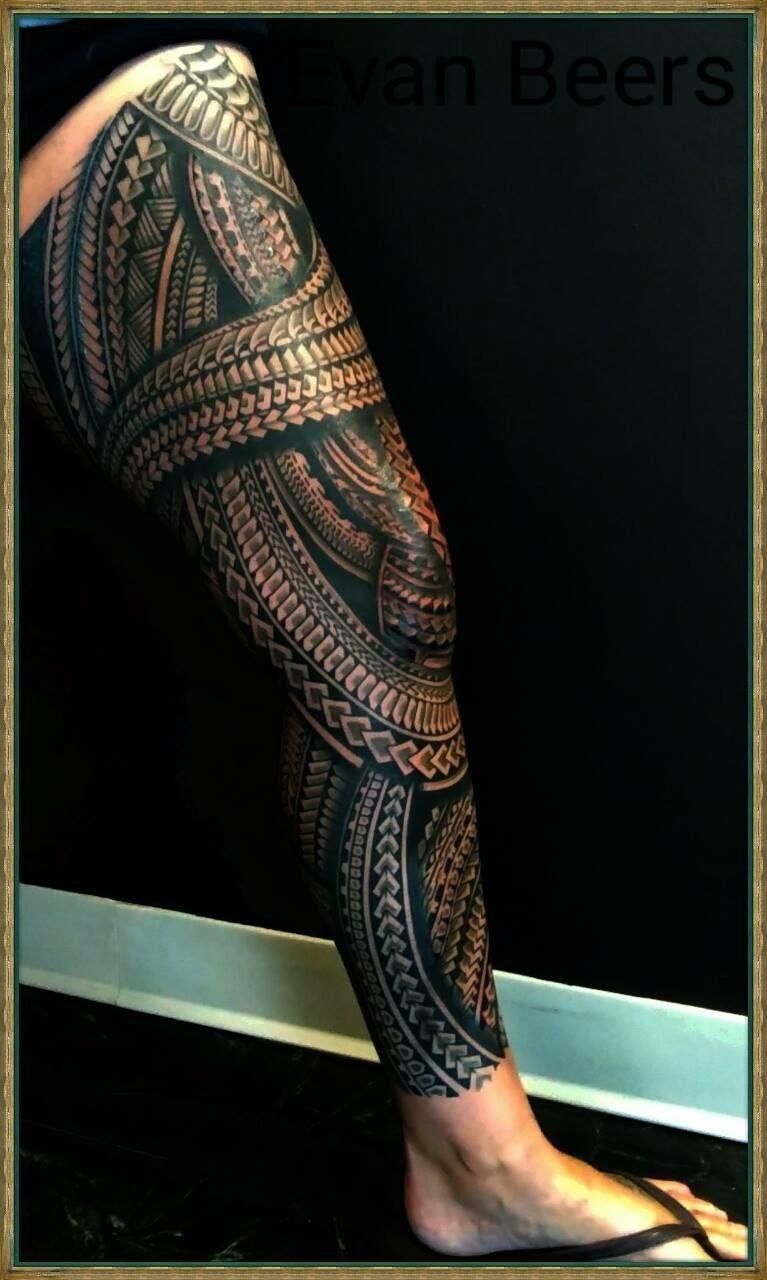 Tatuaje Pierna Tatuajes Pierna Tatuajes Polinesios Tatuajes