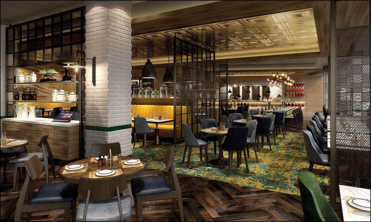 hilton london bankside | all day dining | restaurant design