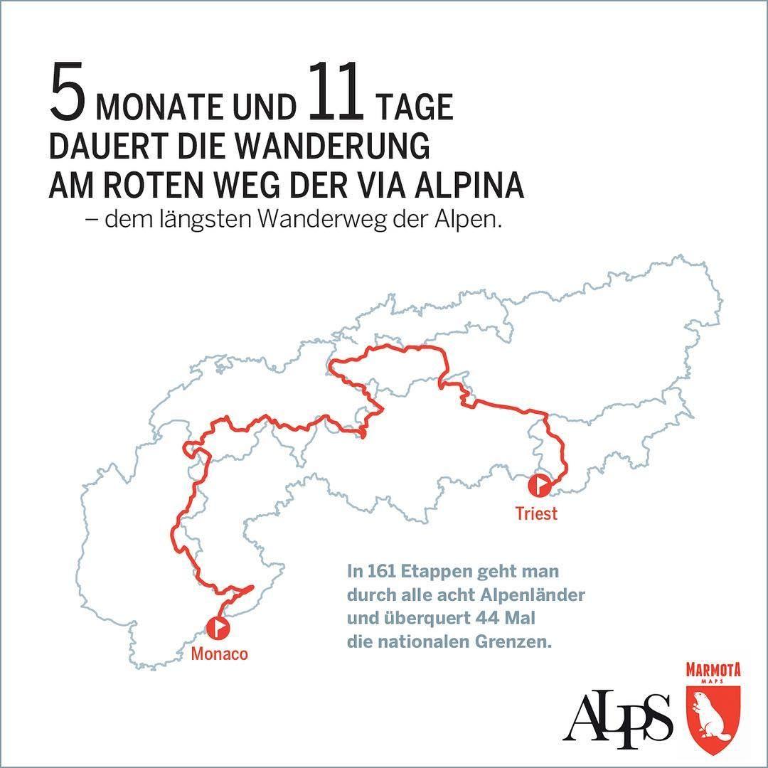Die Alpen in Zahlen  Infografik by marmotamaps #alpen #alps #mountain #mountains #berge #wandern #hiking @ulaniulani