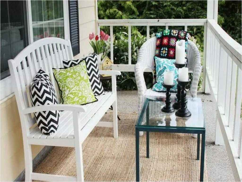 80 Small Front Porch Seating Ideas For Summer Outdoor Benches