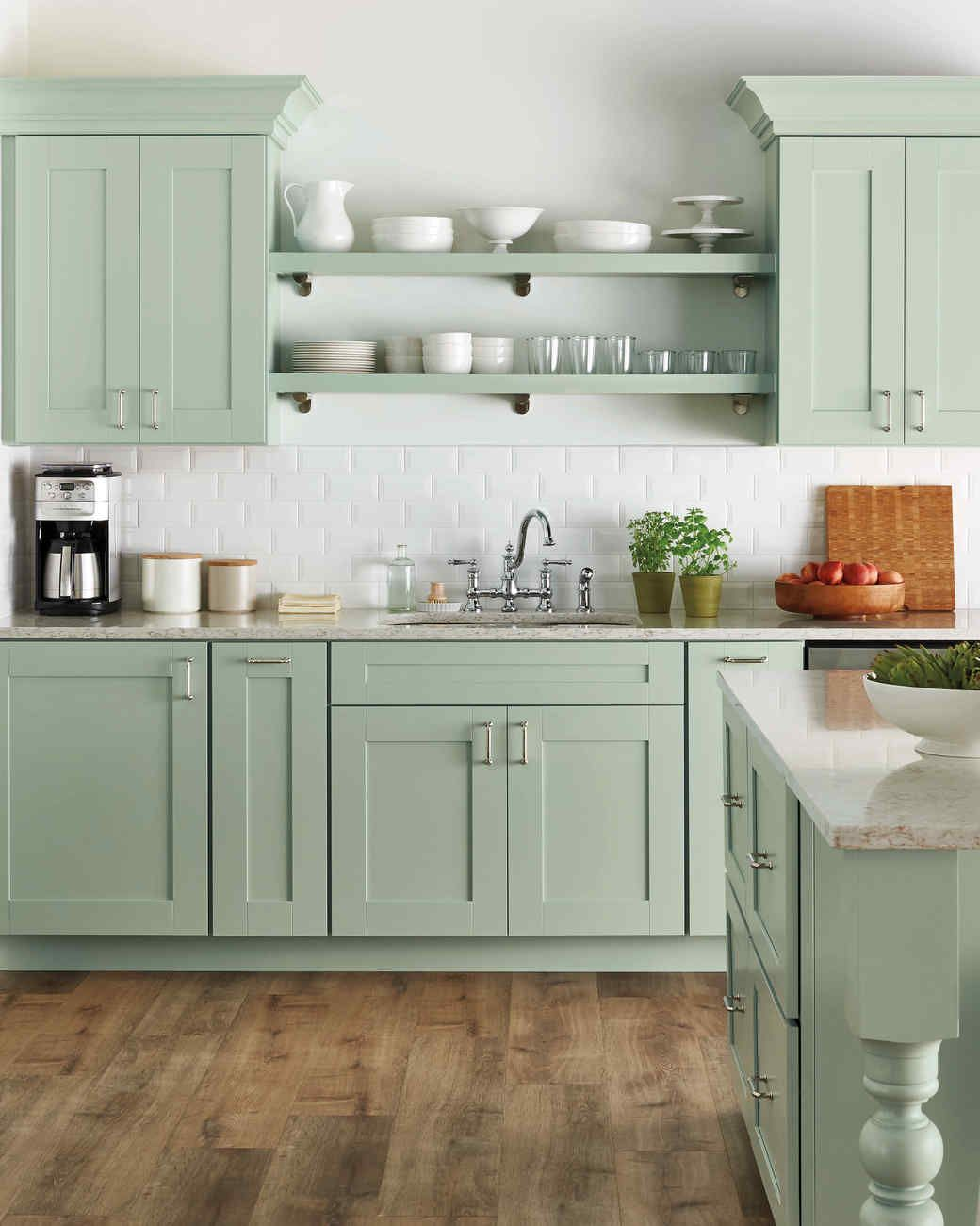 Select Your Kitchen Style Home Depot Kitchen Cottage Kitchen Design Green Kitchen Cabinets