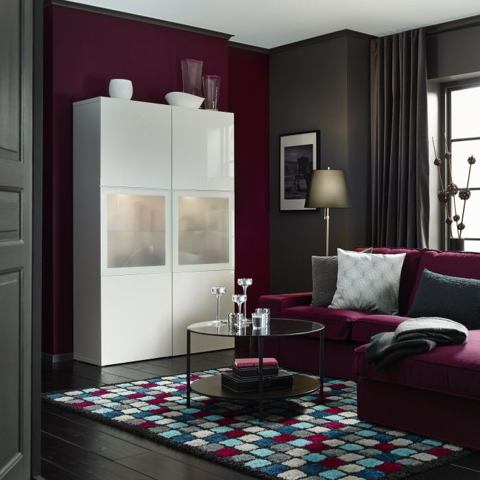 Maroon Grey And White Living Room: US - Furniture And Home Furnishings