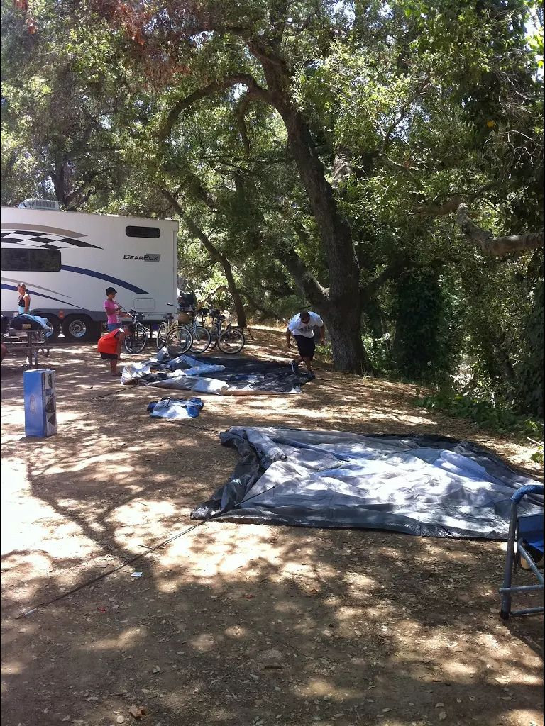 Camping Setting Up Lake Casitas Ca Vacation Trips Family Travel Camping Set Up