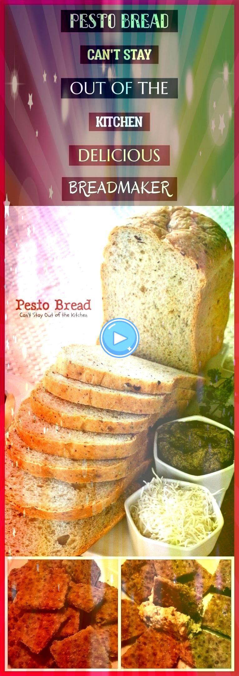 Bread Cant Stay Out Of The Kitchen Delicious Breadmaker  pestobrot kann nicht aus der küche heraus bleiben delicious breadmaker Pesto Bread Cant Stay Out Of The Kitc...
