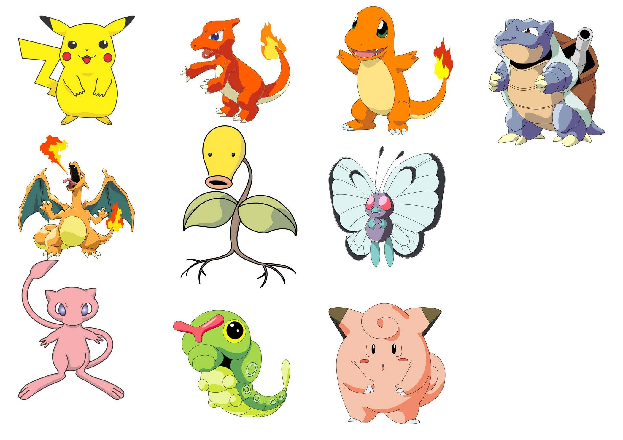 Pokemon characters vector [EPS File] Vector EPS Free