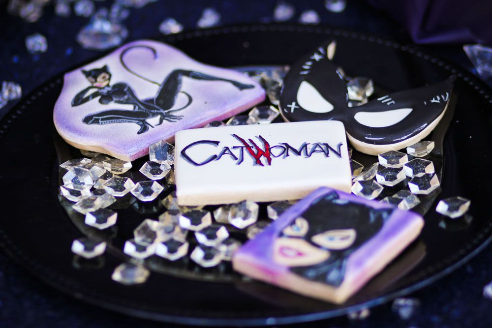 Catwoman Cookies Catwoman Pinterest Catwoman Birthday cakes