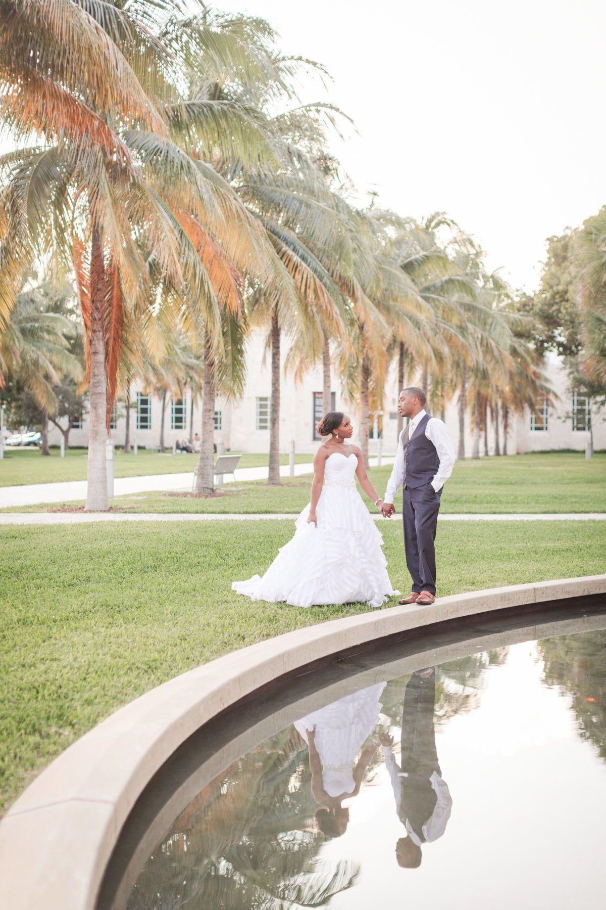 A Fabulous Enjoying The Miami Scenery During Their Destination Wedding