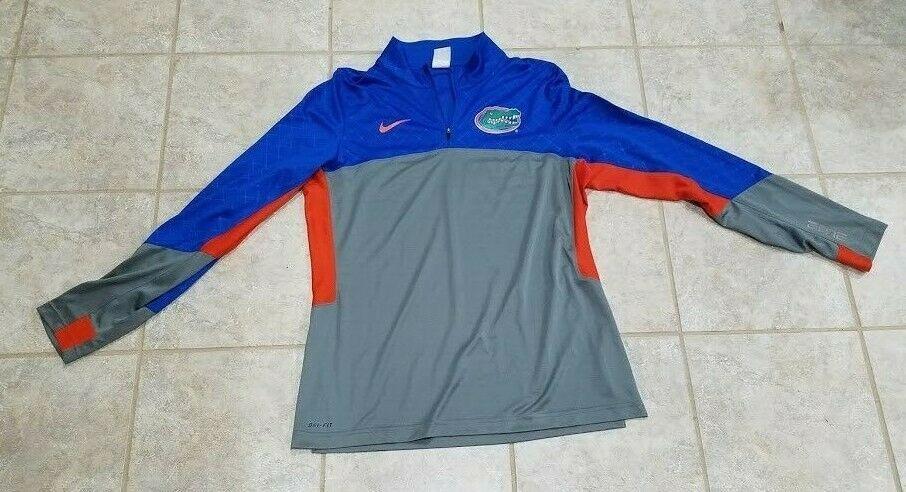 f2b96747d Florida Gators Basketball Nike Elite Dri Fit 3/4 Zip Pullover Jacket Large  NWOT #