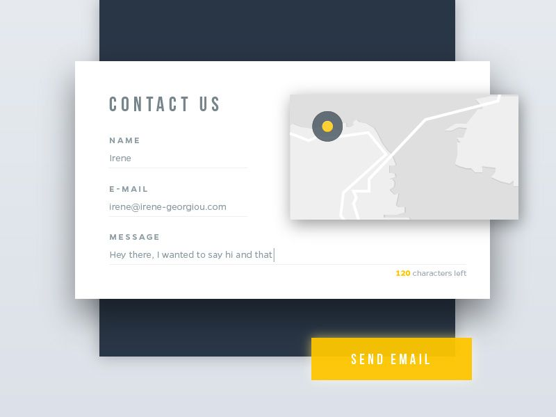 Daily UI - Day 28 - Contact Us | Ui ux, Ui kit and Design web