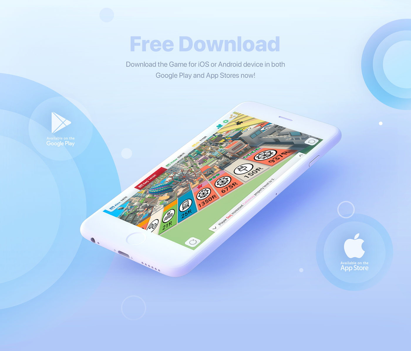Free 3D Game for iOS & Android Rentomania on Behance