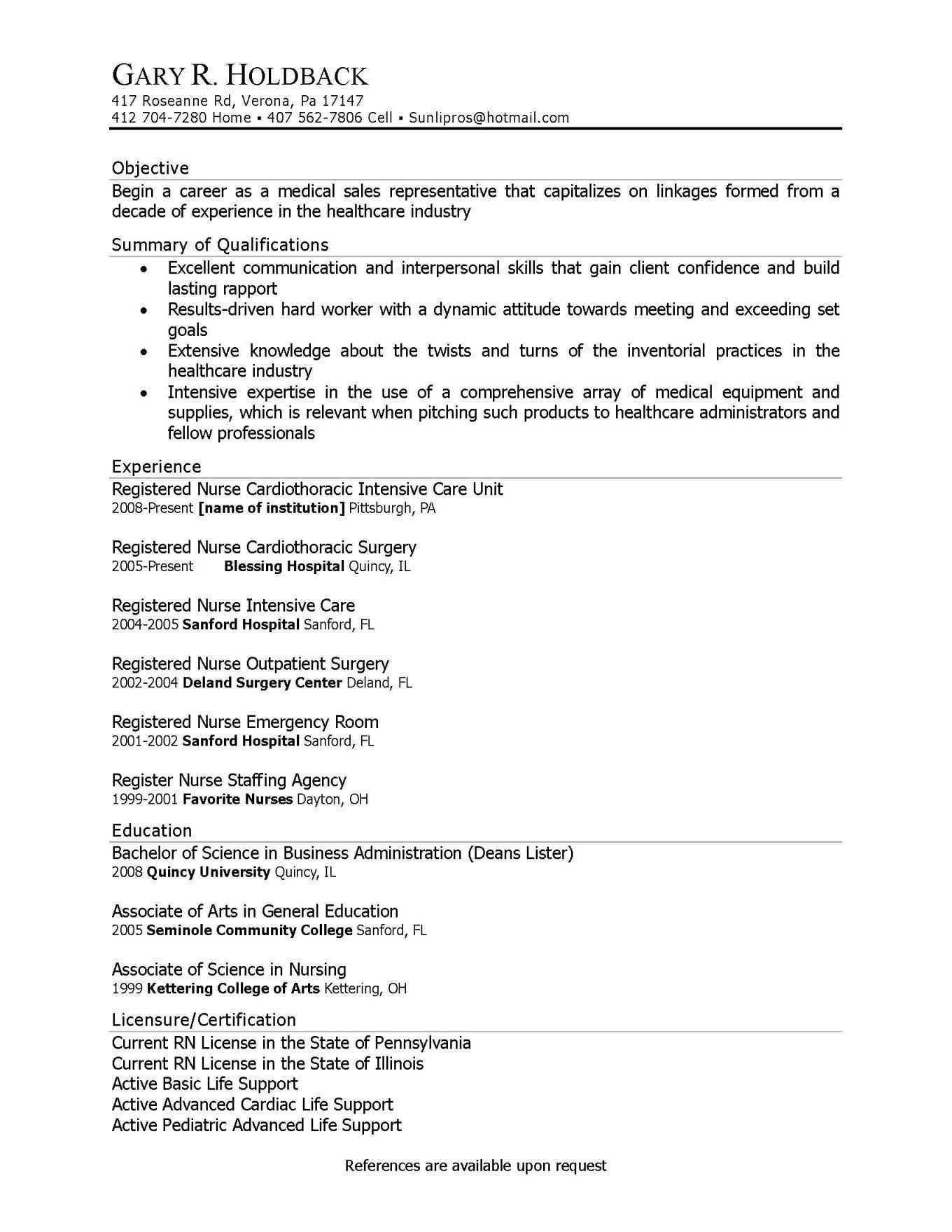 Resume Objective Statement Career Change