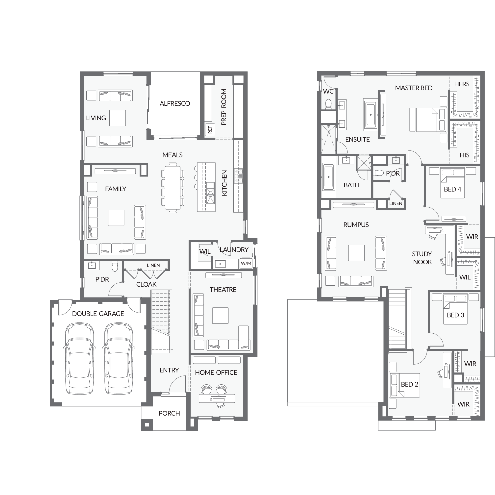 Urbanedgehomes home designs double storey autern also rh pinterest