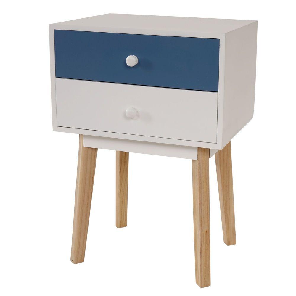 kommode vaasa t271 beistelltisch nachttisch retro design 59x40x30cm blau in m bel wohnen. Black Bedroom Furniture Sets. Home Design Ideas