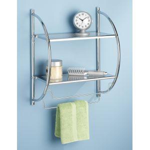 Shelves With Towel Rack Chrome ...