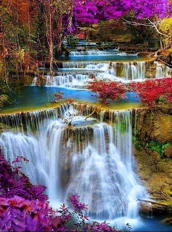 Pin By Lorianne White On Kaleidoscope Of Our Earth Beautiful Waterfalls Waterfall Beautiful Nature Wallpaper