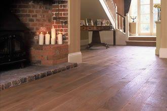 Traditional Random Widths Oak Board Solid Wooden Floor Installed In Hampshire Farmhouse Contact Grange Wood Floors Weybridge Surrey Solid Wooden Flooring