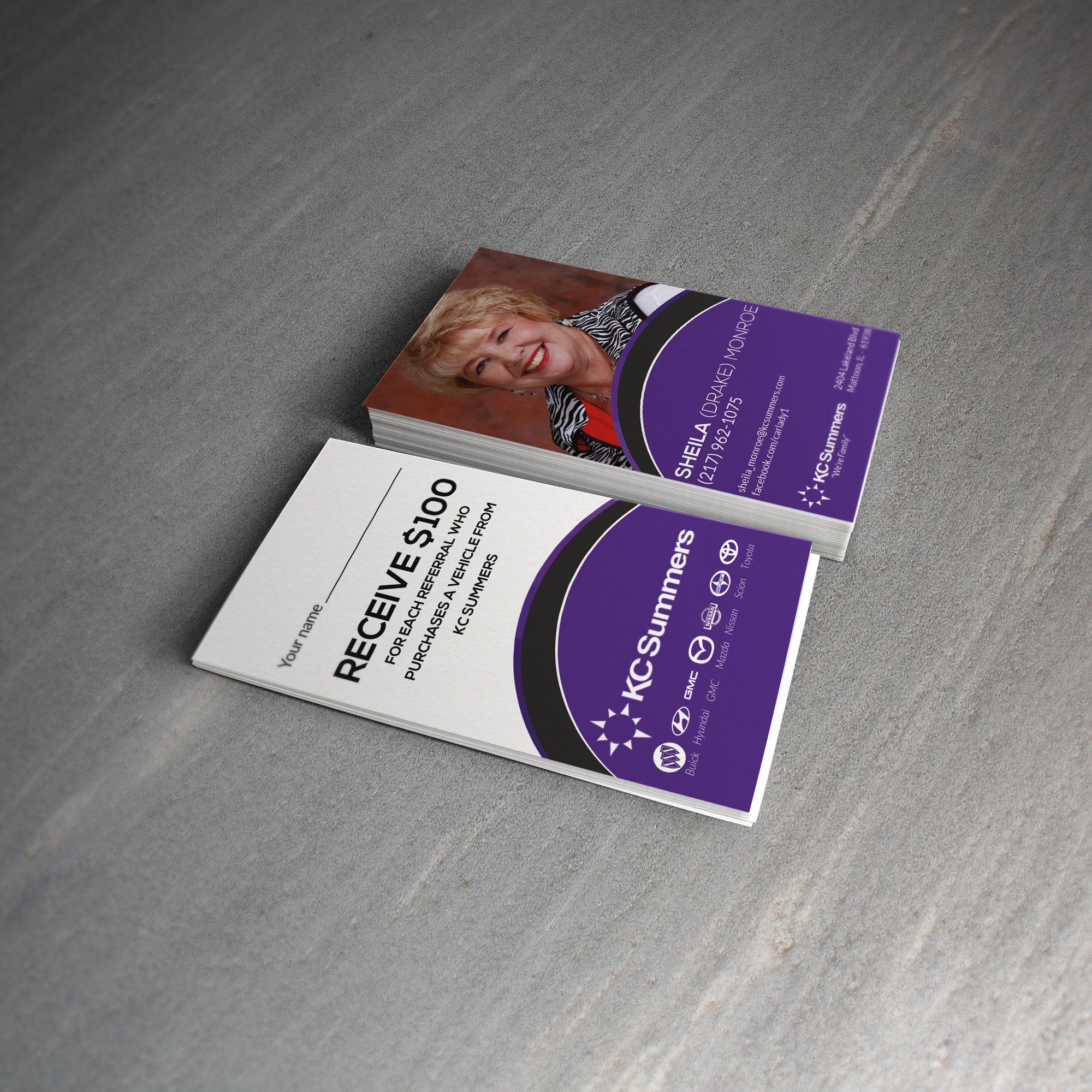 Business Card Design for Car Sales Professional | Design Portfolio ...