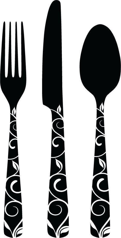 kitchen utensils split silhouette. Interesting Split Fork Knife Silhouette  Google Search Inside Kitchen Utensils Split Silhouette