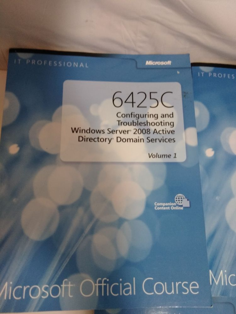 3 microsoft textbooks 64253c 6292a 6425c configuring and trouble