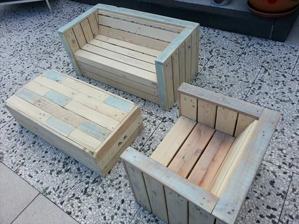 Outdoor Furniture Made With Pallets Crafts Pallet Furniture