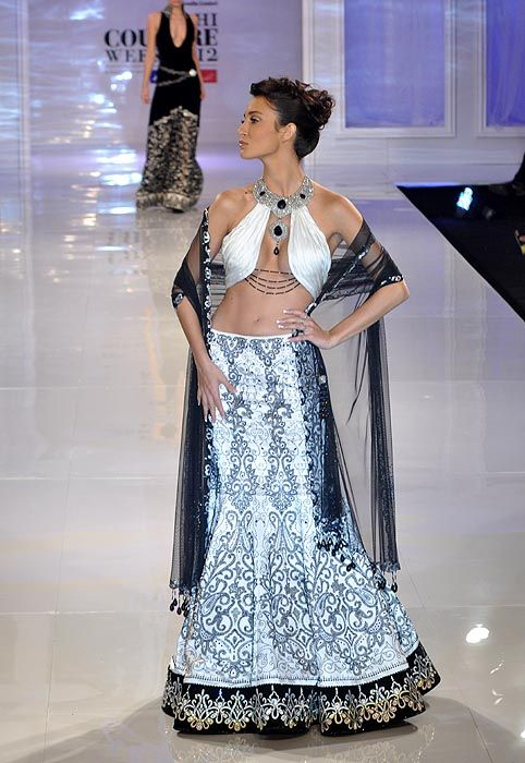 Lovely Blouse by Manav Gangwani at Delhi #Couture Week 2012