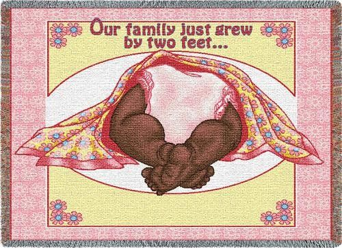 Personalized two feet pink baby african american tapestry throw personalized two feet pink baby african american tapestry throw negle Images
