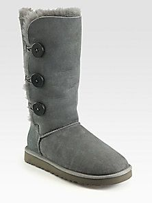 Keeping my feet warm today..and all winter. UGG Australia Tall Bailey  Button Triplet Suede & Sheepskin Boots